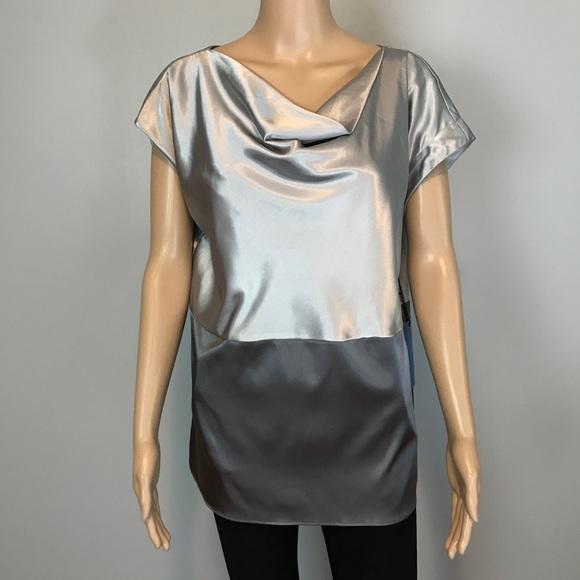Simply Vera Vera Wang Tops - Simply Vera Vera Wang silver grey Blouse top